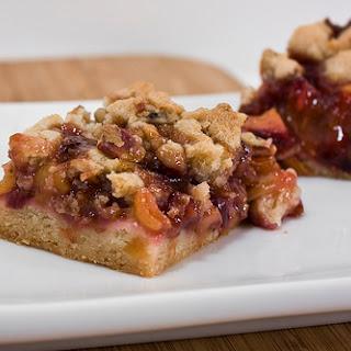 Cherry Peach Crumb Bars