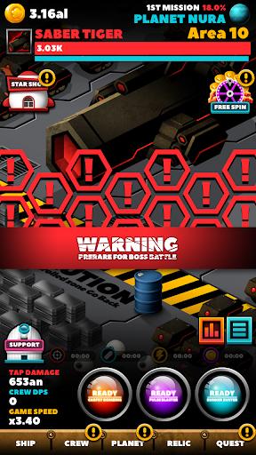 SPACE WAR : IDLE CLICKER 1.0.23 screenshots 8