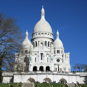 Le Basilique du Sacré-Coeur by Eugen Opritescu - Buildings & Architecture Statues & Monuments ( interior, famous, old, reflection, europe, travel, architecture, french, landscape, capital, attraction, historic, city, modern, paris, sky, monument, france, exhibition, place, sightseeing, water, structure, louvre, building, gallery, pyramid, beautiful, visitors, art, journey, tourism, scenic, museum, photo, destination, history, landmark, tourist, european, artistic, scene, castle, scenery, historical, palace, culture,  )