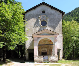 Photo: ... the chapel is set in a forested valley above a mountain stream.