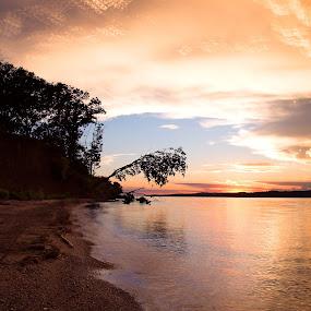 Clark by Chris Timmerman - Landscapes Sunsets & Sunrises ( reflection, nature, sunset, lake, nebraska,  )
