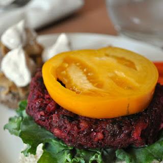 Walnut Lentil Beet Burgers