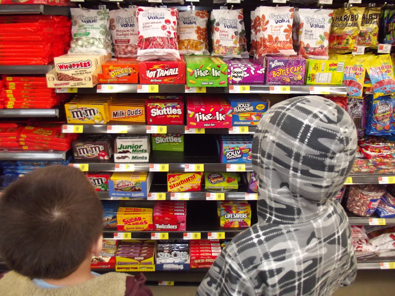 Photo: So many candies!  What will we chose?