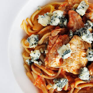 Trout And Blue Cheese Spaghetti.