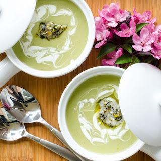 Potato Leek and Green Garlic Soup