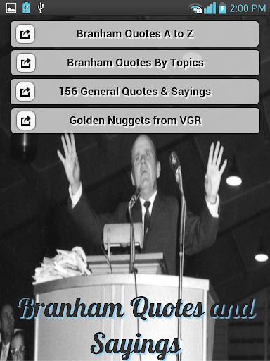 William Branham Quotes Sayings