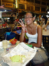 Photo: Georgetown, Penang - 2nd dinner with french Celine which offered me those green vermicelli with brown sugar and coconut