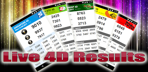 Live 4D Results - Apps on Google Play