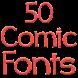 Fonts for FlipFont 50 Comic