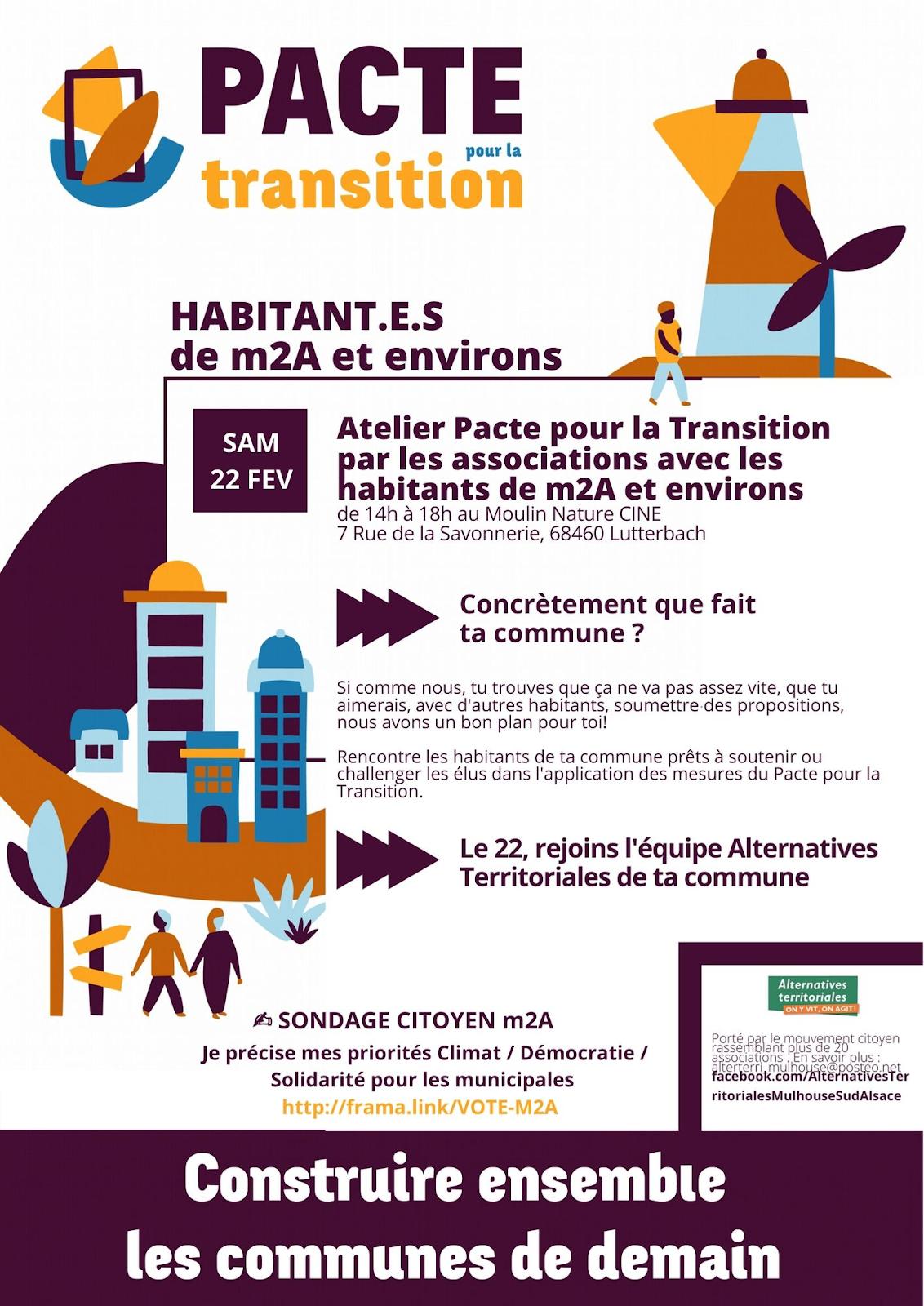 Le Pacte pour la transition des habitant-es de M2A et environs.