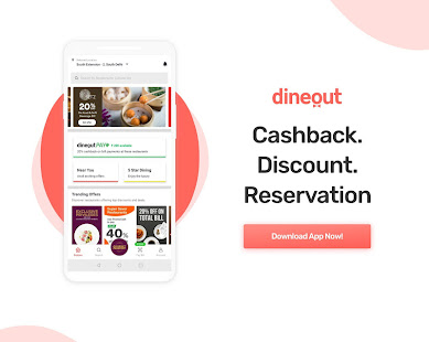 Dineout Find Restaurants Deals Assured Cashback Apps On