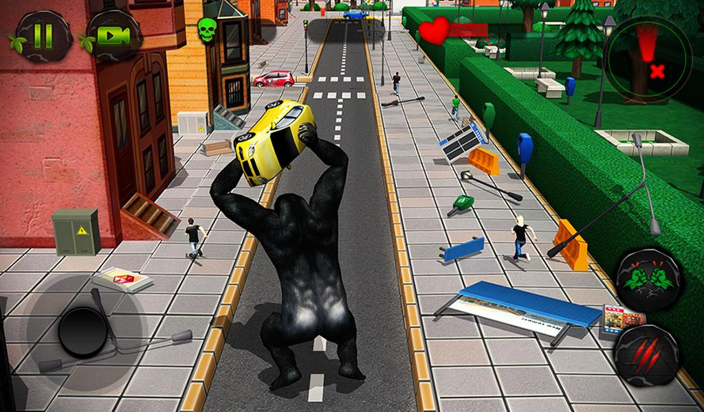 Ultimate Gorilla Rampage 3D- screenshot