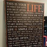 wise words at my airbnb rental in Hong Kong, , Hong Kong SAR
