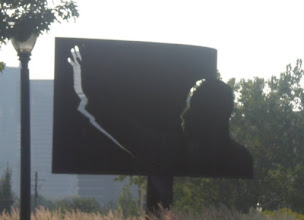 Photo: this billboard? was out front of the MLK center. I thought it was neat