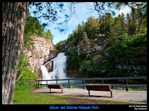 Photo: Waterton National Park: Cameron Falls.