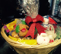 Photo: The gorgeous basket donated by Carol and Mary