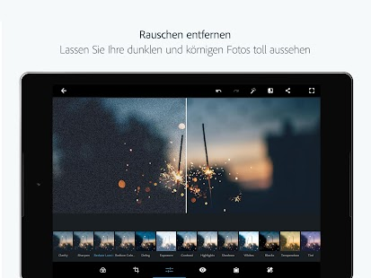 Adobe Photoshop Express:Fotoeditor-Collagefunktion Screenshot