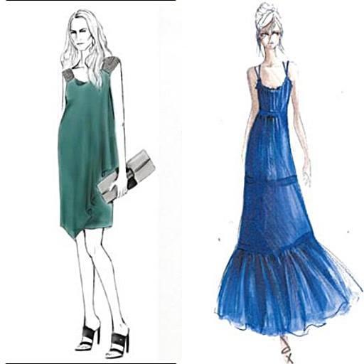 Dress Fashion Sketch Screenshot