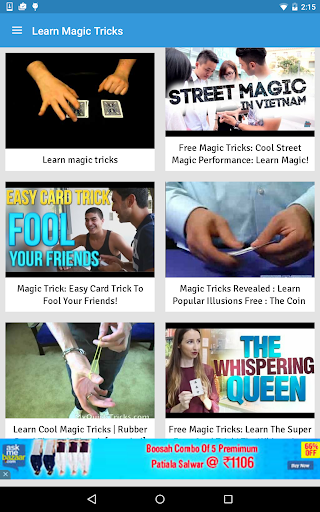 Learn Magic Tricks Screenshot