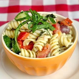Garden Pasta Salad with Lemon Dijon Dressing.