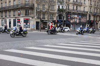 Photo: We thought we were about to see the French president when this motorcade went by