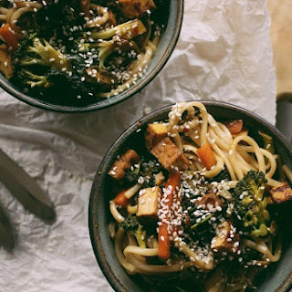 Teriyaki Udon Noodles // Vegan + Oil Free