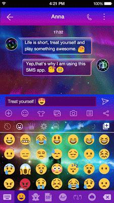Rainbow Aurora Emoji Keyboard - screenshot