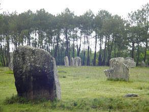 Photo: The Carnac stones were erected during the Neolithic period, from around 4500 BCE until 2000 BCE. The stones' precise date is difficult to determine, as little dateable material has been found beneath them, but 3300 BCE is commonly attributed to the site's main phase of activity. One interpretation of the site is that successive generations visited the site to erect a stone in honor of their ancestors.