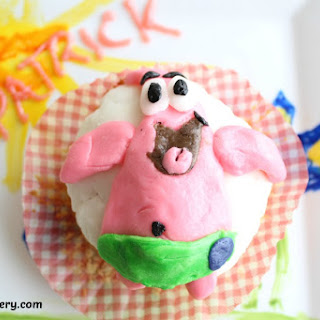 Patrick Cupcakes with Colored Frosting