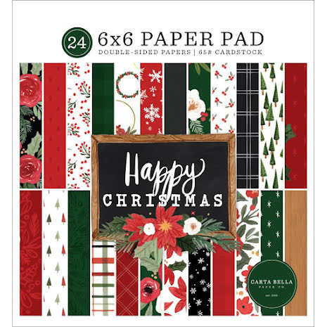 Carta Bella Double-Sided Paper Pad 6X6 - Happy Christmas