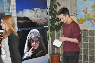 Photo: Výstava fotografií horolezce a senátora Leopolda Sulovského (vestibul školy, leden 2015).