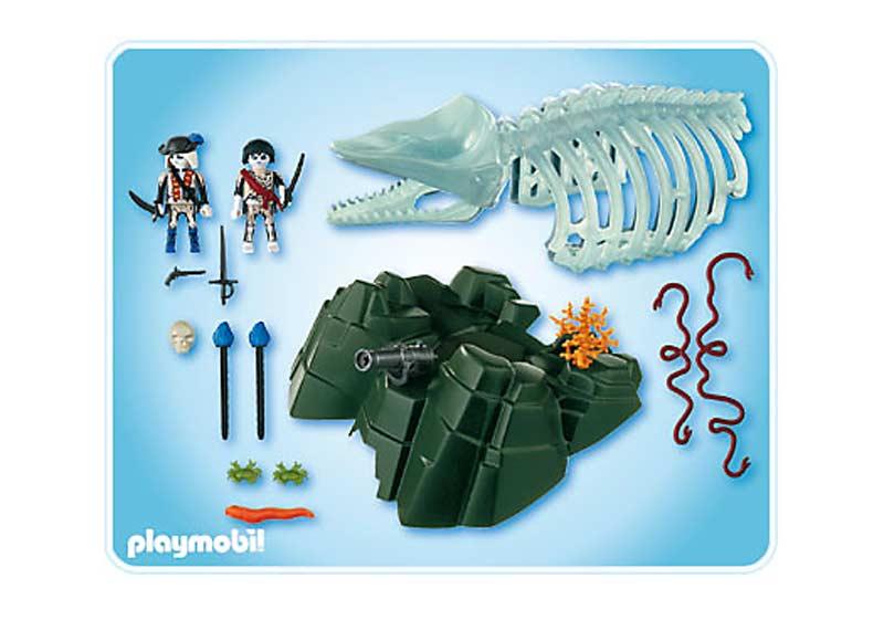 Contenido Real de Playmobil® 4803 Esqueleto de Ballena