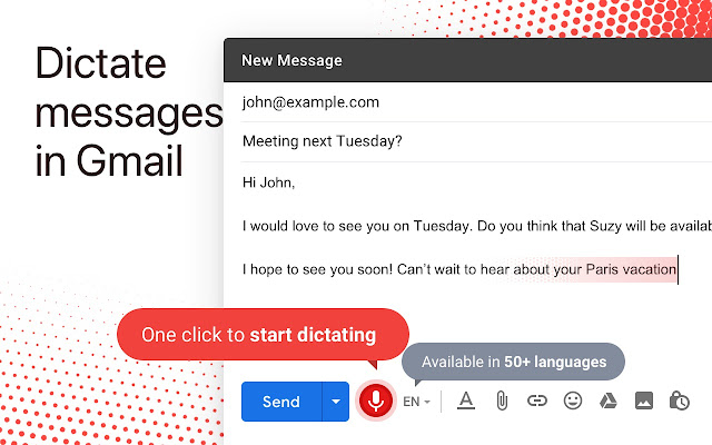 Dictation for Gmail - Chrome Web Store