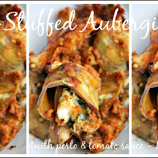 Ricotta Stuffed Aubergine Rolls