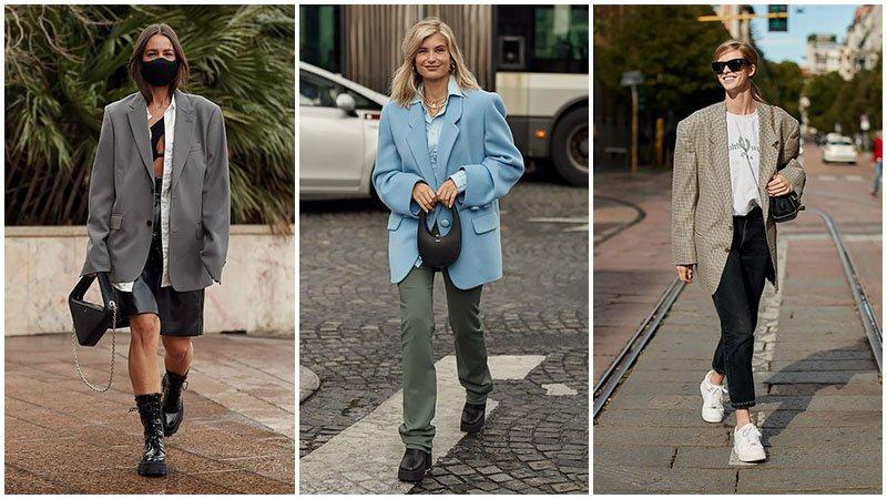 Oversized Shoulderpad Boyfriend Jackets