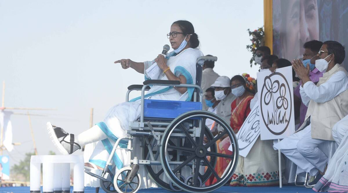 Mamata Banerjee back in rally: Will fight for people till the end |  Elections News,The Indian Express