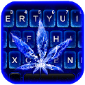 Blue Flame Weed Keyboard Theme icon