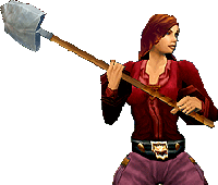 World of Warcraft female human with shovel