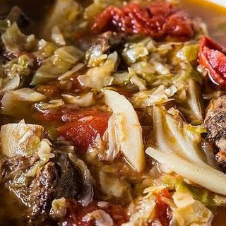 Russian Sweet and Sour Cabbage Soup