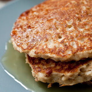 Cardamom-Scented Oatmeal Pancakes With Apricots and Almonds