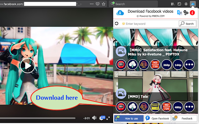 Download Facebook videos Screenshot