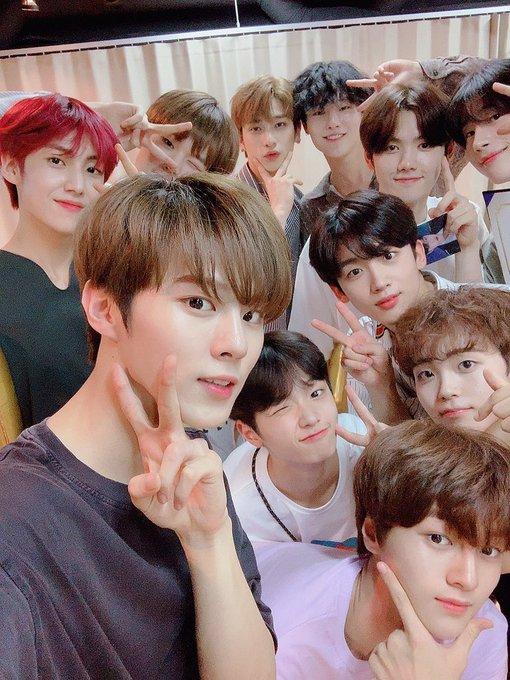 X1 Reveals Their First Group Photos Koreaboo