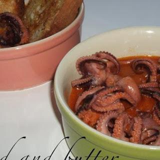 Baby Octopus Alla Diavola (spicy Tomato Sauce)