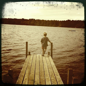 boy on dock by Monica Rodgers - Babies & Children Children Candids