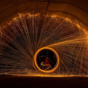 Light Circle Firework by Mohammad Khairizal Afendy - Abstract Light Painting ( light painting, firework, art, circle, fire, nightscape, Steel wool, Steel Wool, Fire, Sparks, , color, colors, landscape, portrait, object, filter forge )