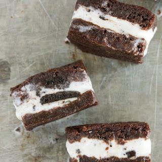 Oreo Brownie Ice Cream Sandwiches