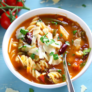 Best Ever Slow Cooker Minestrone Soup.