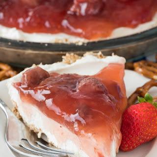 Strawberry Pretzel Salad Pie.
