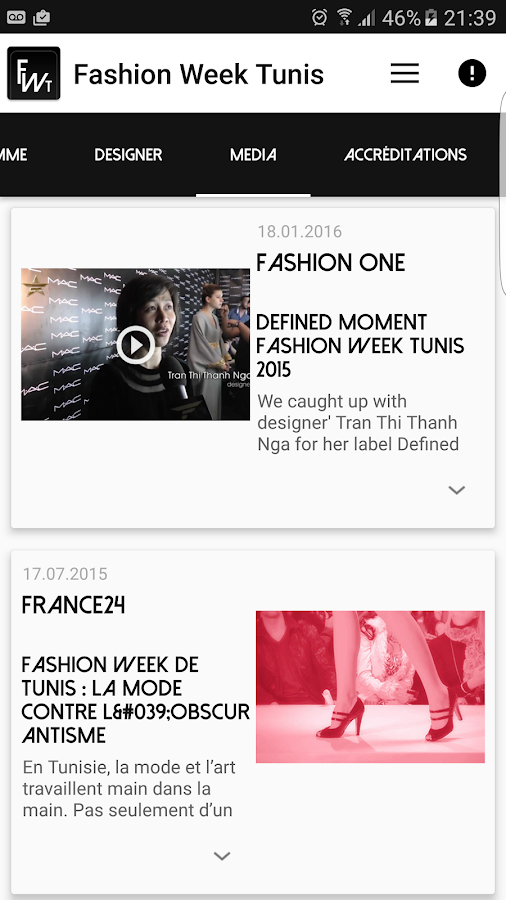 Fashion Week Tunis- screenshot