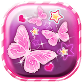 Pink Butterfly Live Wallpaper